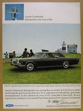 1966 Lincoln Continental Coupe green car photo vintage print Ad