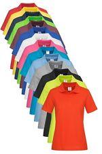 Stedman Womens Womans Ladies Plain Cotton Basic Short Sleeve Polo Shirt