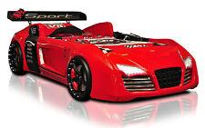 Autobett Turbo V8 rot Kinderzimmer mit LED und Sound Kinderbett 90x190 cm NEU