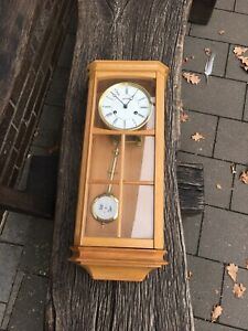 Alter Hermle Regulator Moderne Uhr Pendeluhr Hell