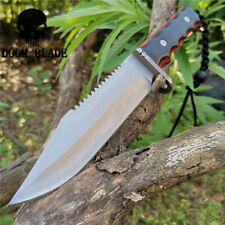 Fixed Blade Dagger Knife Survival Military Bowie Camping Hunting Tactical Knives