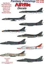 Airfile Hawker Hunter Twin & Single in FAA Service Seater Decals, FPAF72003,