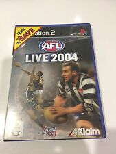 AFL live 2004, Playstation 2, PS2, gd cond, missing booklet, tested
