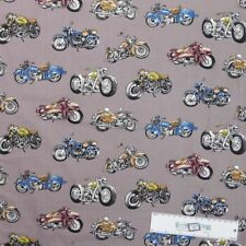 Patchwork Quilting Sewing Fabric MIXED HARLEY MOTORBIKES Panel 90x110cm New