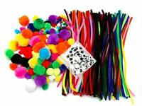 Crafting Kit 500 Pieces, including Pipe Cleaners, Pompoms and Googly Eyes