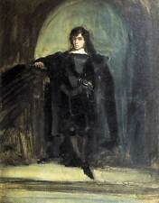 Delacroix Self Portrait As Hamlet Shakespeare Painting Real Canvas Art Print