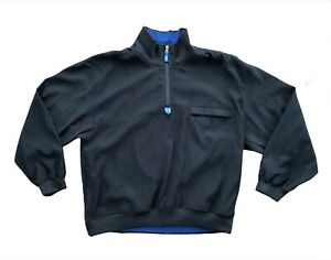 Arnold Palmer Black Softshell With Blue Trim 1/4 Zip Golf All Weather Jacket L