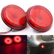 2Pcs Red Lens LED Bumper Reflectors LightsFor Scion xB iQ Toyota Sienna Corolla