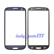 For Samsung Galaxy S4 i9505 i9500 Front Glass Lens Outer Screen Reapir Blue