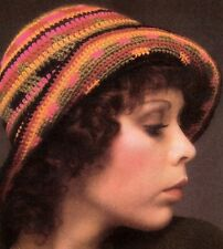 New listing Retro Multicolored 20's Hat/Apparel/ Crochet Pattern Instructions Only