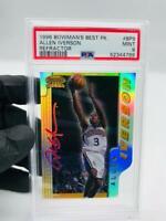 1996 Bowman's Best Best Picks BP9 Allen Iverson Refractor PSA 9 Mint ROOKIE