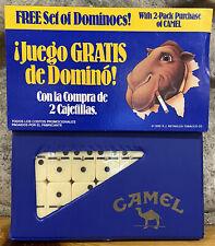 NEW VINTAGE 1989 JOE CAMEL CIGARETTES SET OF DOMINOES SPANISH SLEEVE BLUE CASE
