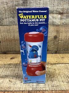 Vintage 1987 TOMY Milton Bradley Water Toy Game WEE WATERFULS POTTAMUS PIT Hippo