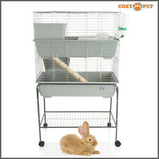 Rabbit / Guinea Pig 2-Tier Cage by Cozy Pet 80cm inc Stand Rat Chinchilla Hutch
