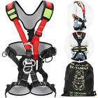 Safety Climbing Harness Rock Tree Body Fall Protection Rappelling Harness Belt