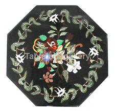 """24"""" Octagon Marble Coffee Table Tops Precious Floral Inlay Cafeteria Decors B181"""