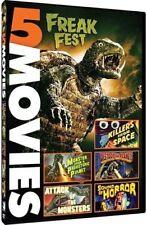New! 5 Film DVD Freak Fest Set: Gamera Viras Guiron Space Sci-Fi monsters horror