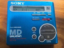 Sony MZ-R70 MiniDisc Recorder Player MD Walkman Blue