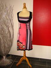ELEGANTE ROBE DRESS MAILLE COLORée SAVE THE QUEEN T M 38  UK 10