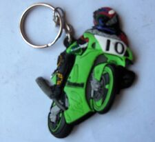 KAWASAKI RACING GREEN NO.10  RUBBER KEY RING NEW KEYRING