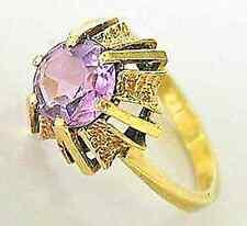 wow☻Amethyst Ring in aus 585 14kt Gelb 4,2 Gramm Gold Ring mit Amethyste Ametist