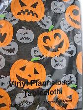"Halloween flannelback pumpkin table cloth 52"" x 52"""