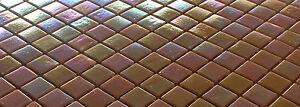 Glasmosaik Mosaik Fliesen Dusche/Pool PERLMUTT EFFEKT Gelb/Orange *NEU*  (WB92)