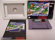 Bugs Bunny: Rabbit Rampage (Super Nintendo) COMPLETE IN BOX!!! SNES