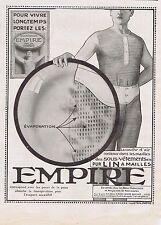 PUBLICITE ADVERTISING 044 1913 EMPIRE sous vêtements en lin à mailles