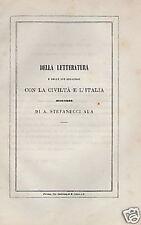 LETTERATURA_CIVILTA'_ITALIA_STEFANUCCI ALA_GIROLAMI_800