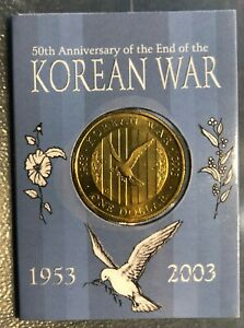 Collectable 50th Anniversary End of Korean War $1 Coin 'C' mintmark:FREE postage