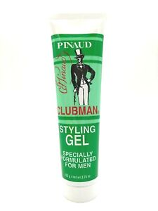 Pinaud Clubman Styling Hair Styling Gel Tube Alcohol Free 3.75 oz EA - Lot of 2
