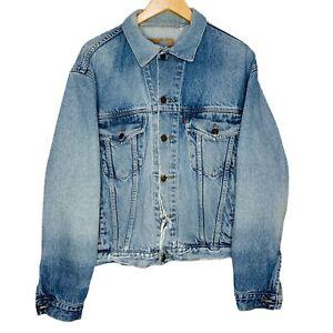 Levis x Jim Beam Bourbon Embroidered Blue Denim Jacket Size XL Thrashed Made AUS