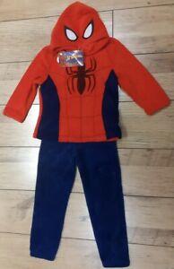 Spider-Man - Warm & Cosy - Boys Pjs - Red & Blue - 8-9Yrs - Brand New