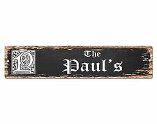 SPFN0401 The PAUL'S Family Name Street Chic Sign Home Decor Gift Ideas