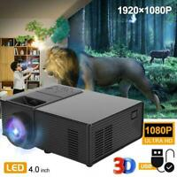 Mini 1500 Lumens HD LED 1080P Projector DLP Android Home Theater Cinema 4K HDMI