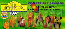 RAFIKI articulated toy figure Lion King movie Burger King BK/Disney (1994) NIOP