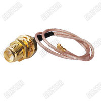 RP SMA Female(male pin) to U.FL/IPX RG178 Pigtail Cable 15cm Mini-PCI UFL