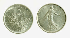 pcc2128_80) FRANCIA 5 FRANCHI 1963 ARGENTO
