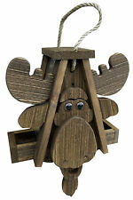 Rustic Moose Bird Feeder Amish Handcrafted Made in Usa !