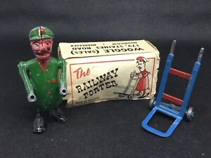 Woggle Toy THE RAILWAY PORTER (lime Green 281) Most Of Box See Photos