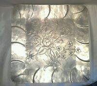 Everlast Metal hand forged  flower platter plate