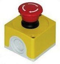 FLEXBAR Emergency Stop Button, Heavy Plastic Enclosure #13371