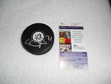 Evgeni Malkin Signed Pittsburgh Penguins Logo Puck JSA #N49901 Autograph Hockey