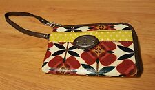 FOSSIL KEY-PER LEATHER WRISTLET HAND BAG PURSE ORGANIZER MULTI-COLOR
