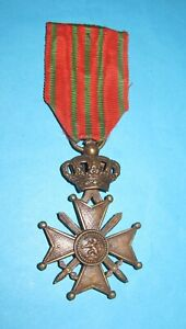 Medal Belgium  Croix De Guerre 1914 - 1918  WWI