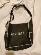 "WARNER BROTHERS COMIC-CON BAG 2010 BLACK ""WB"" SIDEBAG BOOKBAG SCHOOL BAG VTG"