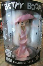 """1998 Betty Boop Talking Doll Pink Dress 12"""" Poseable Figure"""
