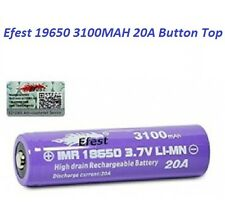 1X Genuine Efest Purple IMR 18650 3100mah 20A Battery Button Top The Latest 2016