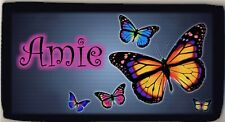 Personalized Custom Butterfly Butterflies Tropical Color Checkbook Check Cover
